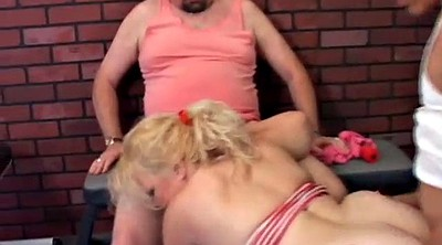 Chubby granny, Sexy granny, Old cougar, Granny threesome, Spit roast, Old sexy