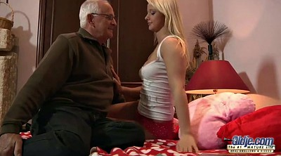Grandpa, Teen throat, Old grandpa, Granny swallows cum