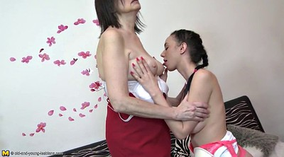 Young girl, Young milf, Old lesbians