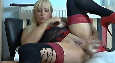 Red, Webcam milf, Webcam mature, Red heels, Mature webcam