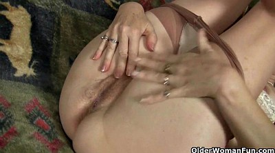 Mature pantyhose, Mature masturbation