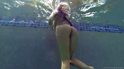 Underwater, Swim, Huge tits solo