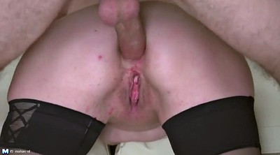 Mature, Mother, Anal milf, Old young, Mother son