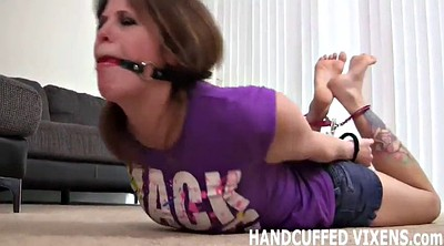Helpless, Handcuffed, Femdom bondage, Being