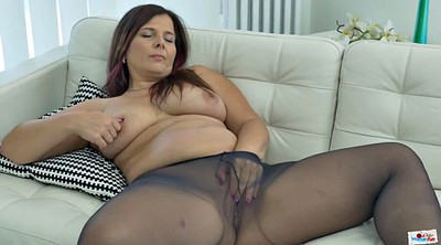 Pantyhose, Mature, Pantyhose mature, Chubby solo, Chubby mature solo