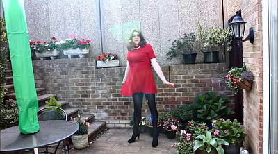 Pantyhose, Dress, Alison, Red, Pantyhose outdoor