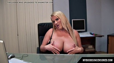 Tit, Office masturbation, Laura