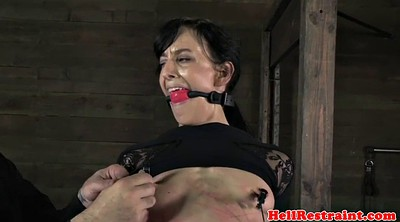 Caning, Scream, Bondage nipple