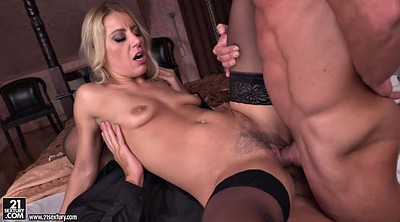 Hungarian, Threesomes, Hairy blonde