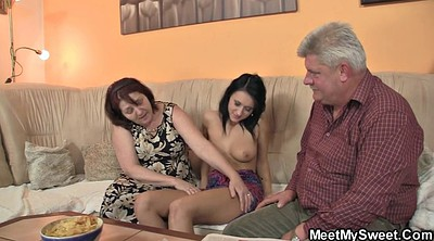 Mature granny, Threesomes, Old couple