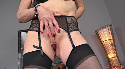 Mature stocking, Stocking mature, Saggy, Granny solo