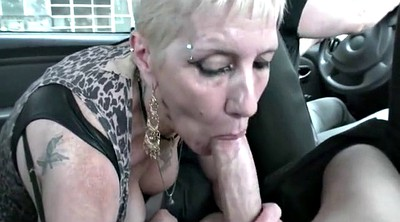 Mature pantyhose, Granny blowjob
