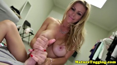 Busty cougar, Jerking