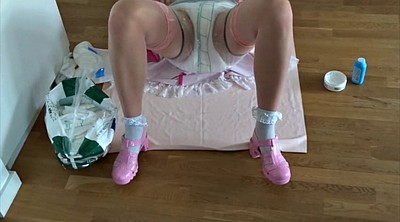 Sissy, Maid, Diaper, Change, Sissy maid, Changing