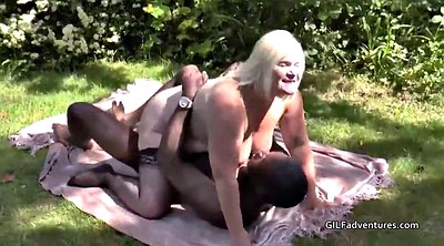 Lacey, British mature, Black granny, Outdoor mature, Garden, Ebony mature