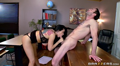 Brunette, Missionary orgasm, Busty office, Office busty