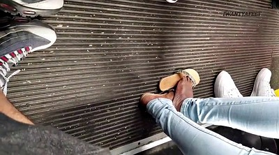 Bus, Candid, Black foot