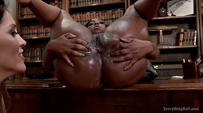 Pantyhose lesbian, Black face sitting, Insertion, Insert, Black pantyhose, Black anal