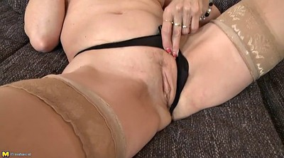 Mom, Saggy, Saggy tits, Milf stockings, Mom sucks, Mom stockings