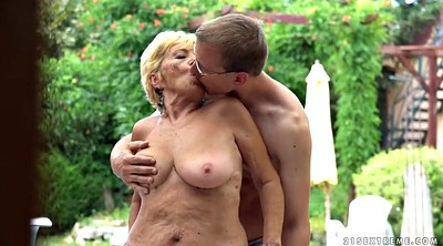 Pool, Mature outdoor, Pool fuck, Mature blonde, Hairy old