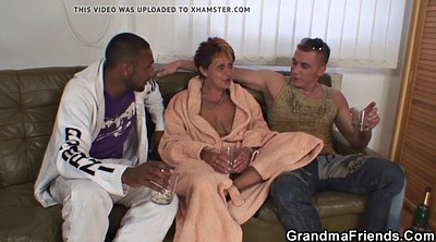 Granny threesome, Grandmother, Double penetration mature