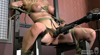 Machine, Blonde tied, Fucking machine, Bondage fuck, Machine bdsm, Tied and fuck