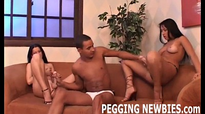 Interracial bdsm, Pegging, Strapon pegging