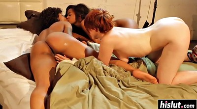 Hairy lesbian, Lesbian threesome, Girl and girl