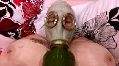 Big pussy, Mask, British amateur, Nail, Gas mask