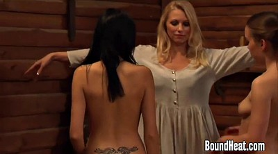 Young lesbians, Punished, Lesbian threesome