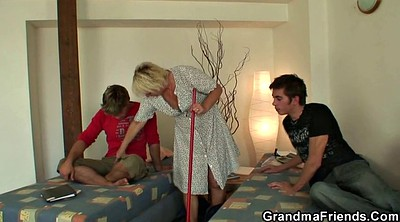 Old woman, Clean, Young pussy, Woman, Mature woman
