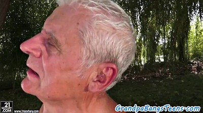 Oldman, Young creampie, Old&young, Old creampie, Outdoor creampie
