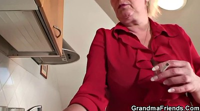 Busty wife, Old wife, Two granny