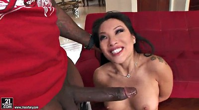 Hardcore, Asian black, Asa akira, Monster cock anal, Monster anal, Ebony cumshot