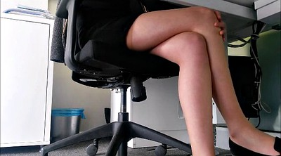 Table, Legs, Under table, Pantyhose upskirt
