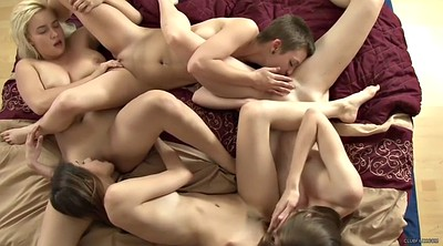 Four, Life, Lesbian face sitting, Hairy orgy