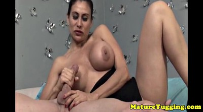 Mature big tits, Mature handjob, Mature tease