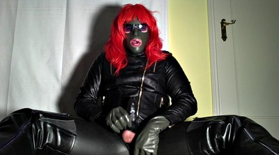 Latex, Boot, Crossdress, Leather boot