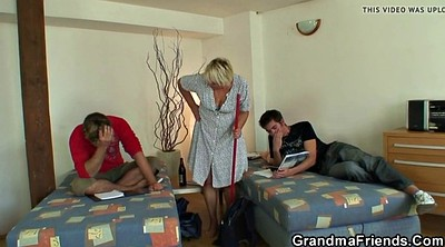 Old mature, Mature threesome, Skinny granny