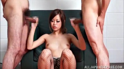 Asian gangbang, Hand job