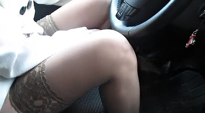 Upskirt, Girl, Car, Changing, Change