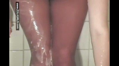 Pantyhose, Cheerleader, Showering