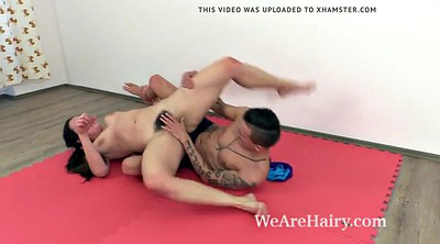 Wrestling, Wrestle, Fighting, Hard sex, Cat fight