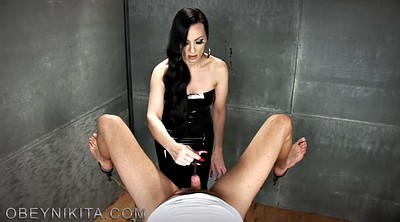 Mistress slave, Sounding, Mistress handjob