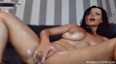 Dildo squirting, Lady, Double anal, Squirt masturbation, Oil dildo