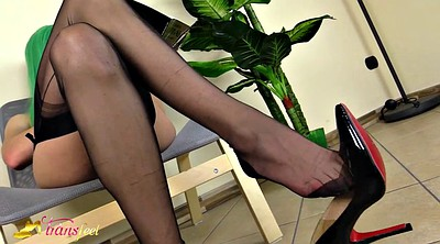 Nylon feet, Hot, Shemales, Black feet, Shemale feet, Ebony shemale