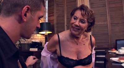 Grannies, Hot granny, Grandson, Pounded, Dinner, Young bbw