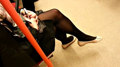 In pantyhose, Candid