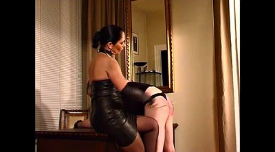 Spanked, Leather, Mistress foot