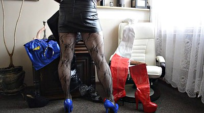 High heels, Pantyhose gay